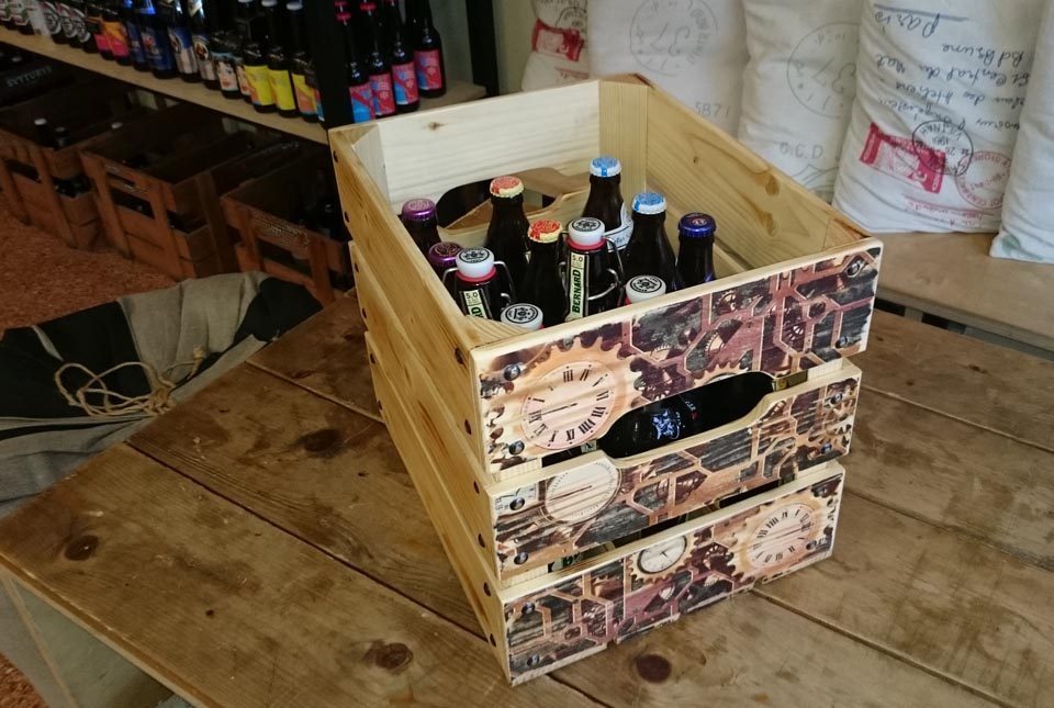 Dėžė alui dovana vyrui 12ai butelių