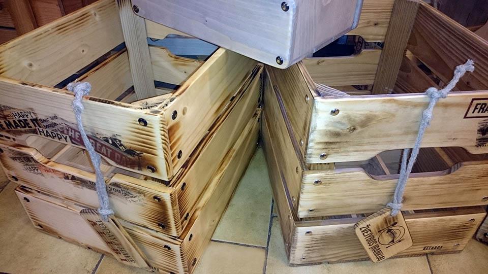 Medinės dėžės alui 20 butelių