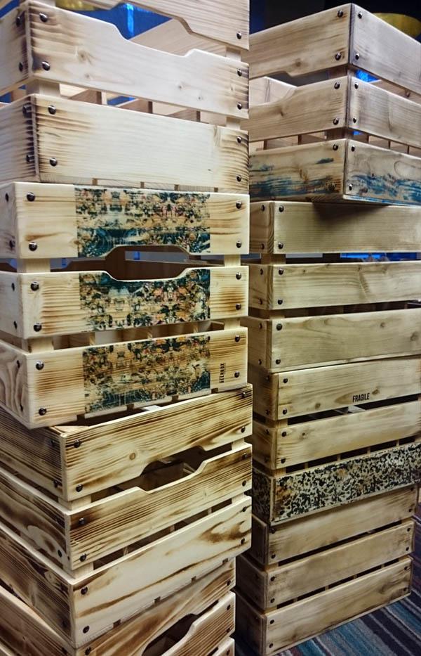Originalios medinės dėžės