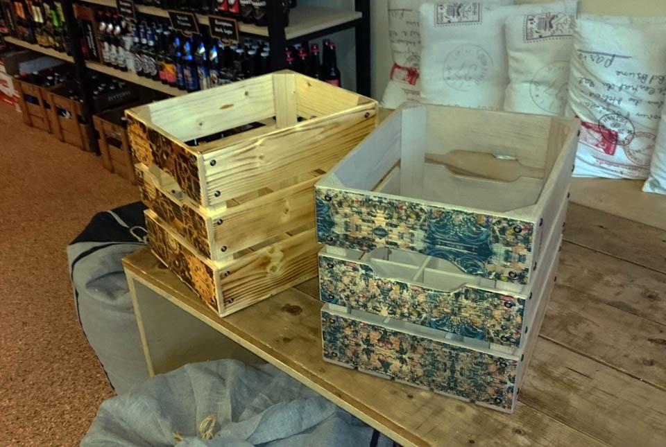 medinės dėžės vyrui 20 butelių