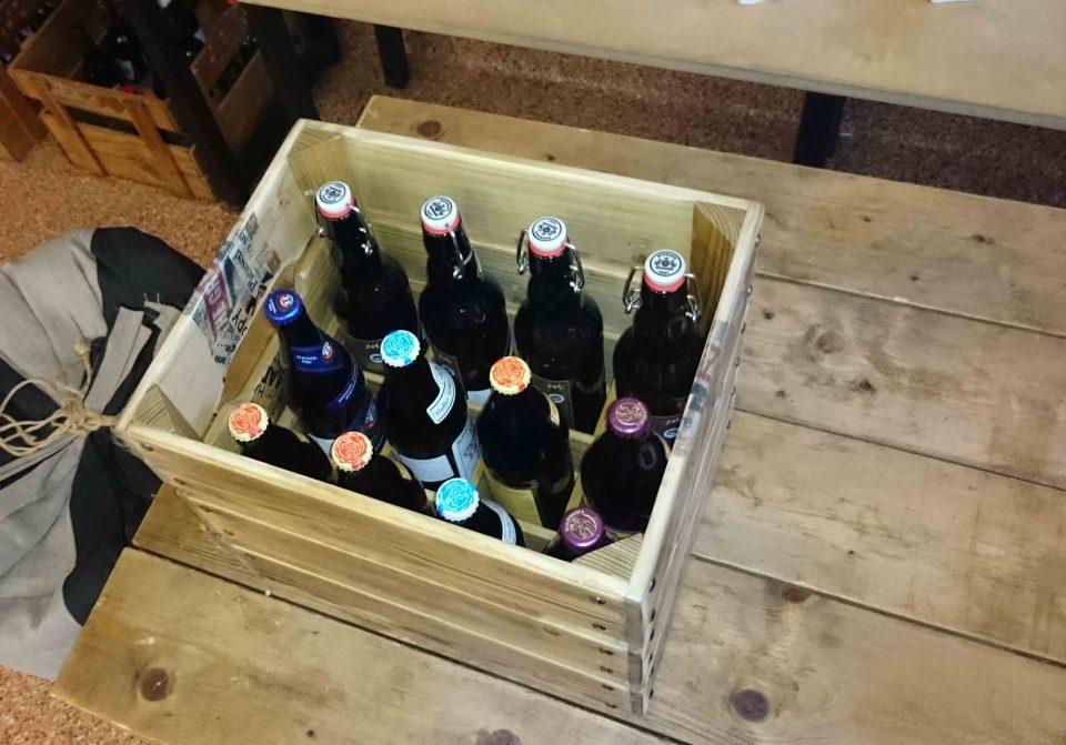 originali dėžė alui 12-ai butelių